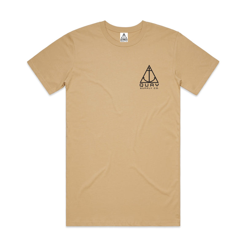 "QUAY - ""Logo"" Tall Tee Tan"