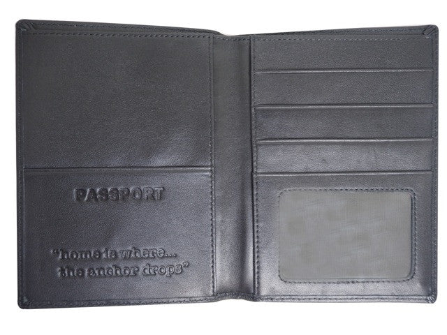 QUAY - Passport Wallet Black Leather