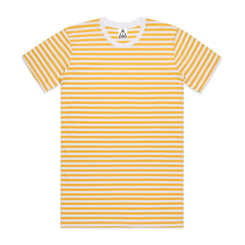 Quay Stripe Crew Tee Yellow White Stripe