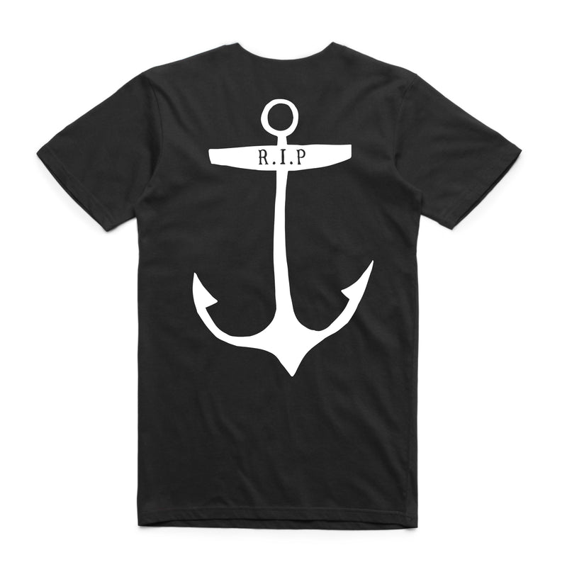 "QUAY - ""Dead Anchor Club"" Reg Tee Black"