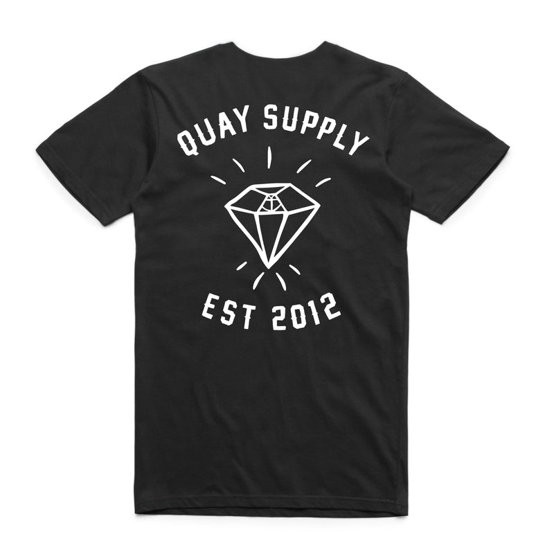 "QUAY - ""Diamond"" Reg Tee Black"