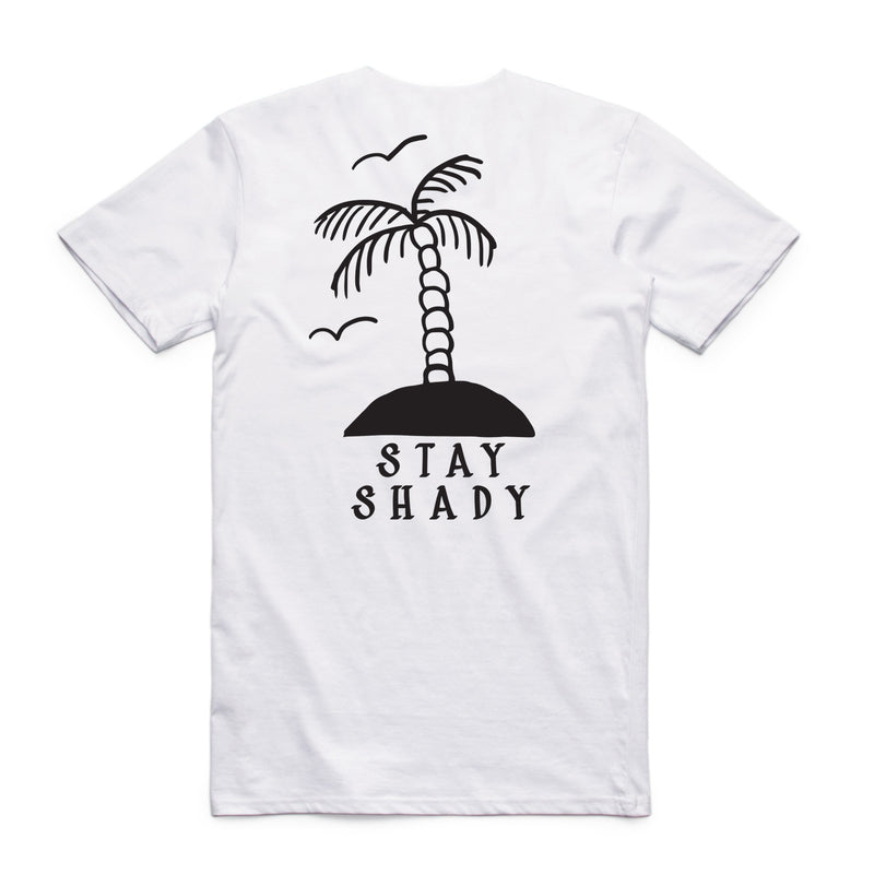 "QUAY - ""Palm Tree"" Reg Tee White"