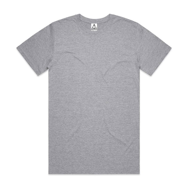 QUAY - Basic Reg+ Tee Grey Front View