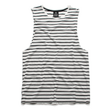 QUAY - Stripe Muscle Black & White