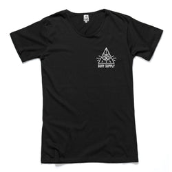 Quay Supply EYE Scoop Tee Black Front View