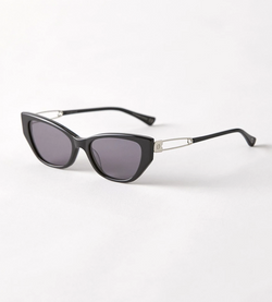 EPOKHE - Wire Polished Black Sunglasses