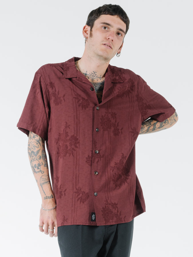 THRILLS - Hidden Paradise Bowling Shirt Blood Red