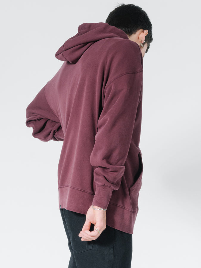THRILLS - Minimal Slouch Pull On Hood Blood Red