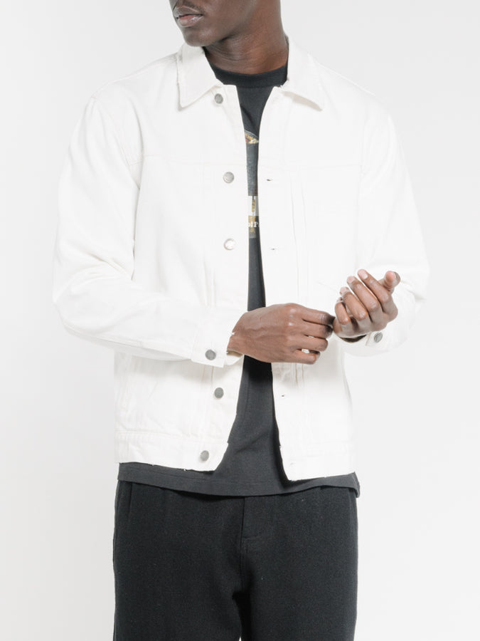 THRILLS - Ryder Oversized Denim Jacket Optic White