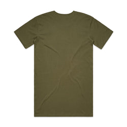 QUAY - Basic Tall Tee Army Back View