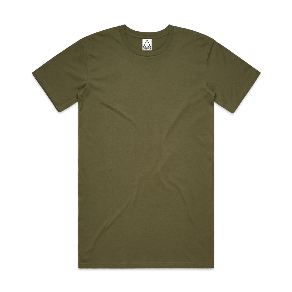 QUAY - Basic Tall Tee Army Front View