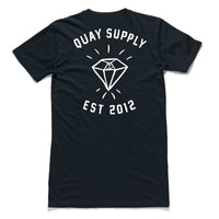 "QUAY - ""Diamond"" Tall Tee Black"