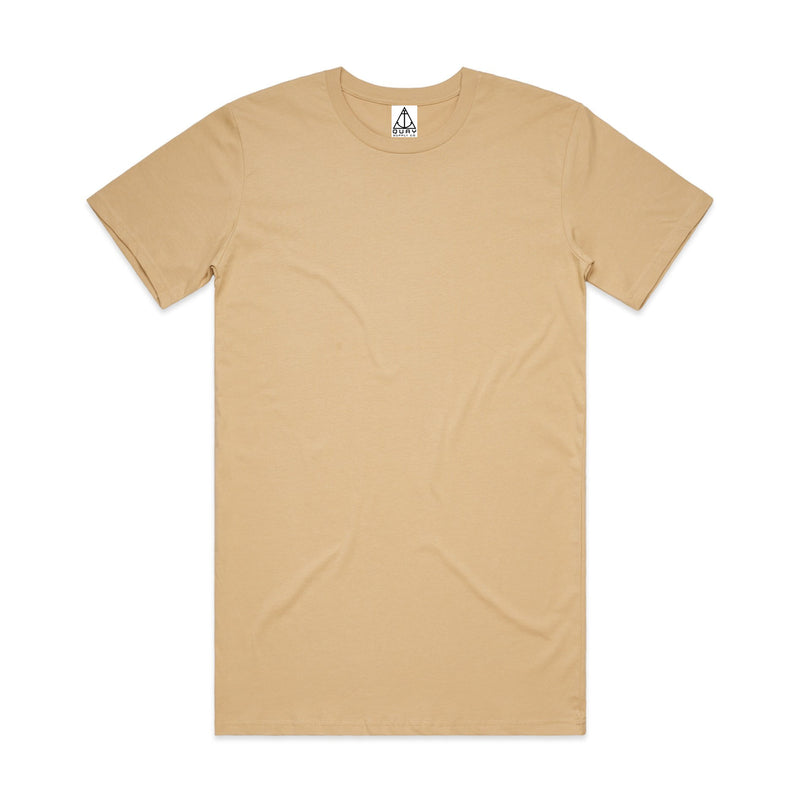 QUAY - Basic Tall Tee Tan Front View