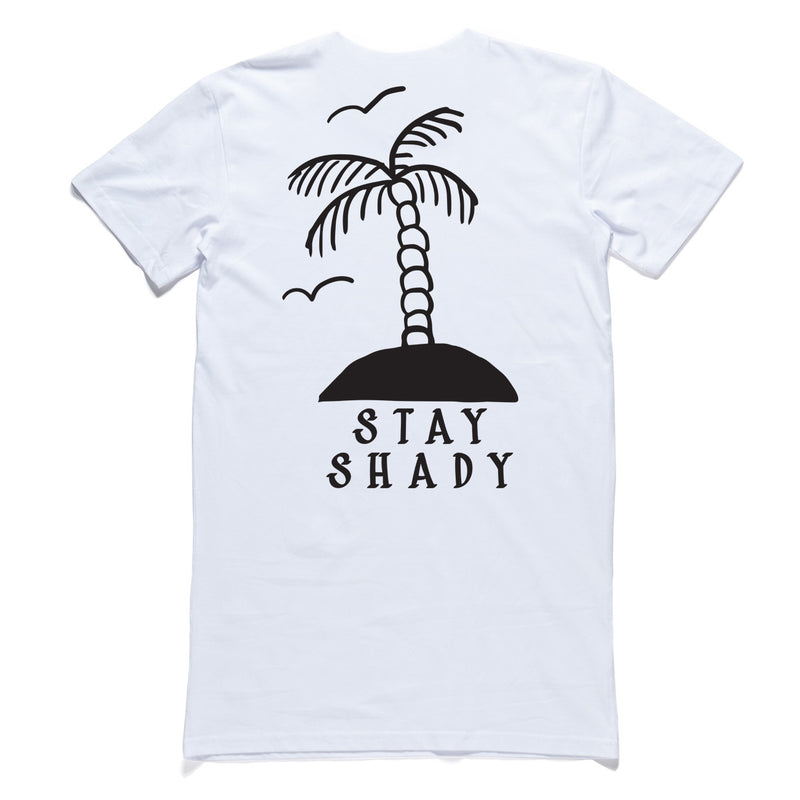 "QUAY - ""Palm Tree"" Tall Tee White"