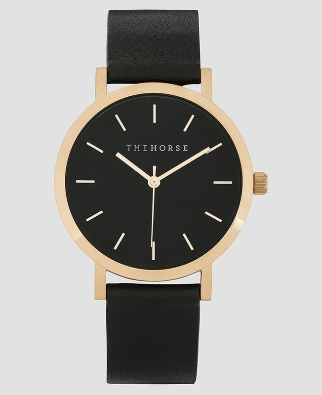 THE HORSE - Mini Original Polished Rose Gold / Black Band