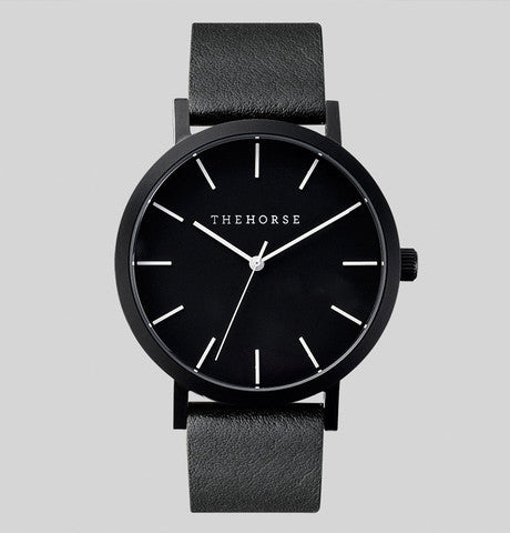 THE HORSE - Sand Blasted Matte Black / Black Band