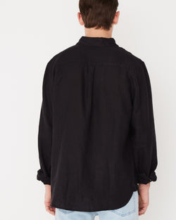 Assembly Label Casual Longsleeve Shirt Black Back View Close