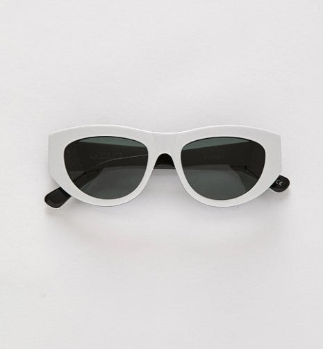 EPOKHE - Candy White Black Sunglasses
