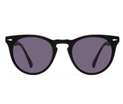 EPOKHE - Darko Black Polished Sunglasses