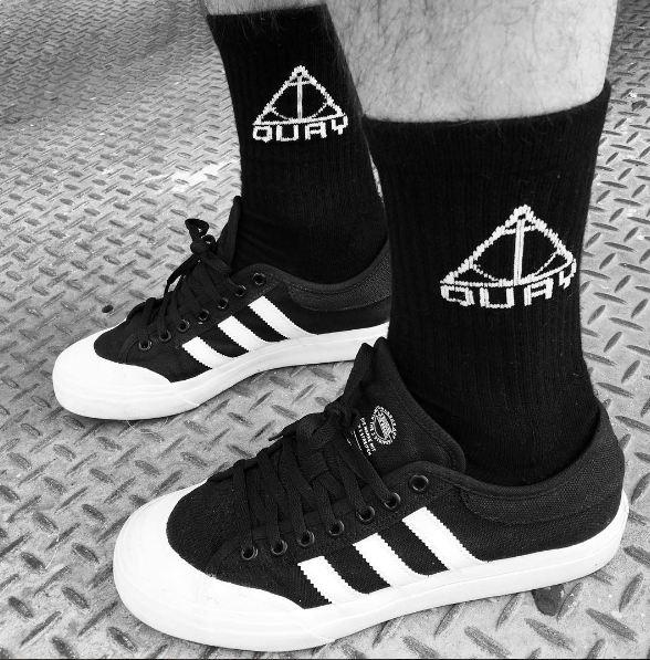 "QUAY - ""Anchor"" Socks Black"