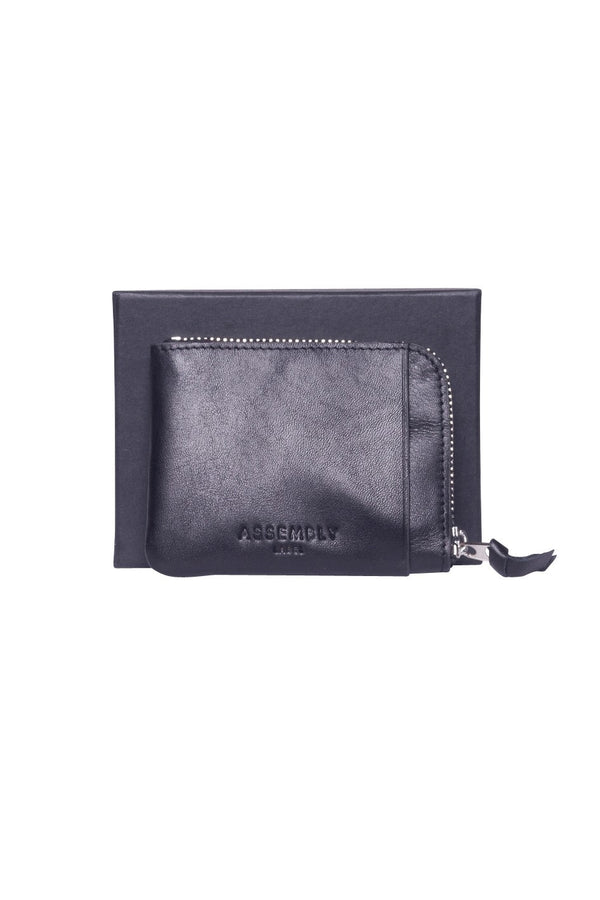 Assembly Coin Wallet Black Leather