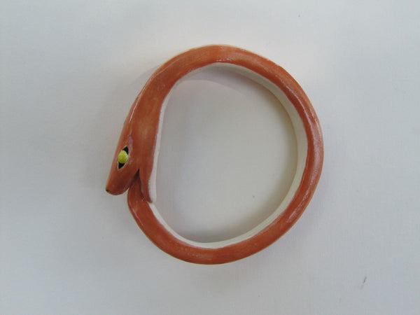 Ourobouros ceramic bangle