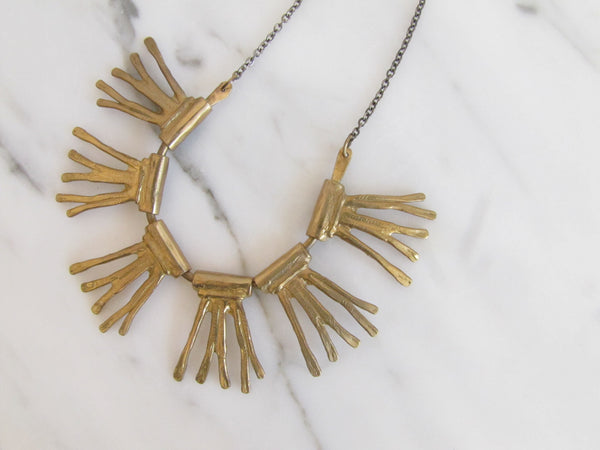 Leah Ball Bronze Radial Necklace