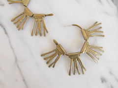 Leah Ball Bronze Radial Earrings