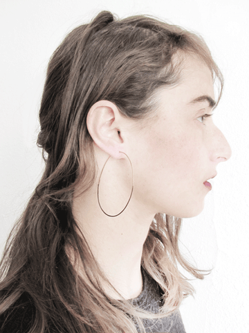 Shadow Hoop Earrings-Ovals
