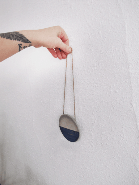 Indigo Horizon Ceramic Wall Hanging