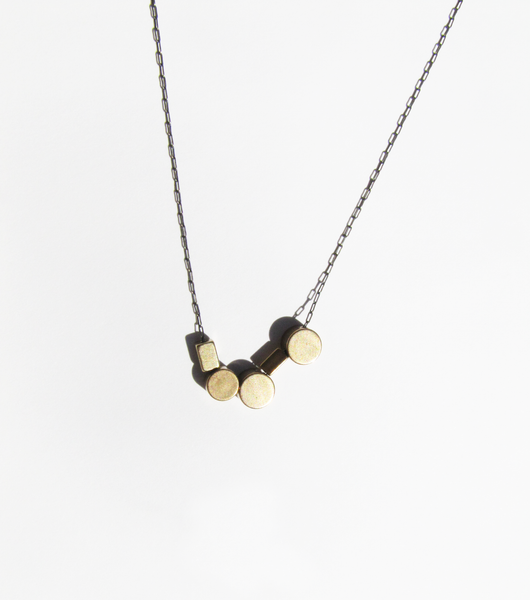 Brass Shapes Necklace