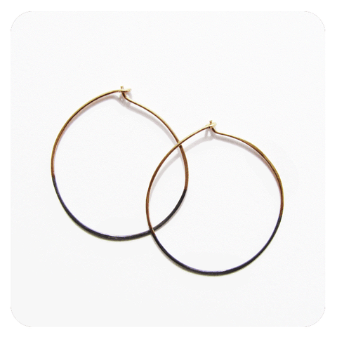 Shadow Hoop Earrings-Circles