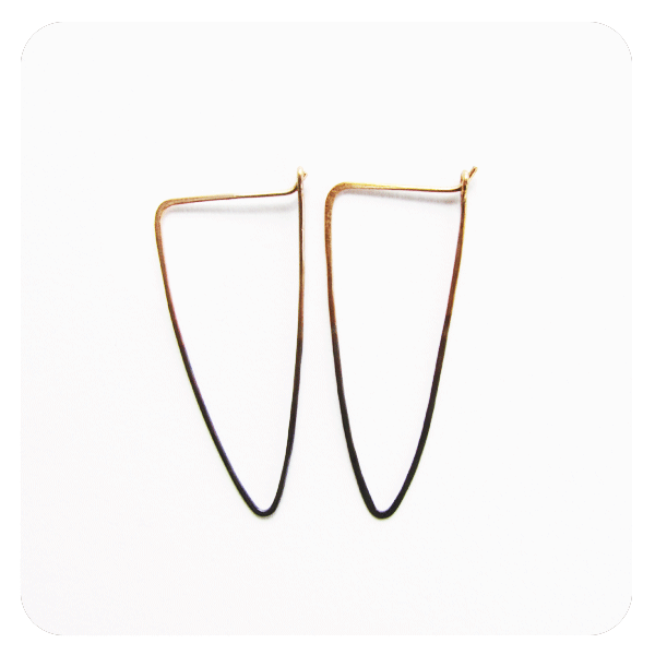 Shadow Hoop Earrings-Arrows