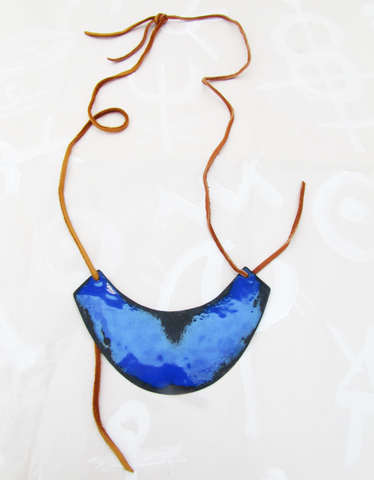 Indigo Shield Necklace