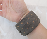 Chocolate Dot Ceramic Bangle