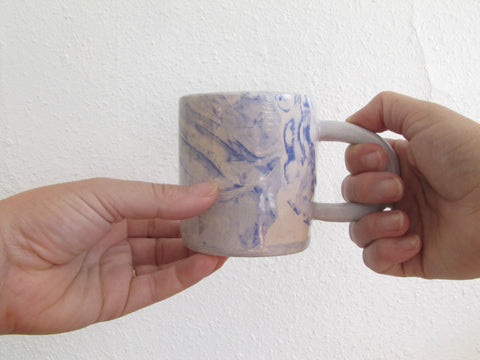 Marbled Blue Ceramic Mug