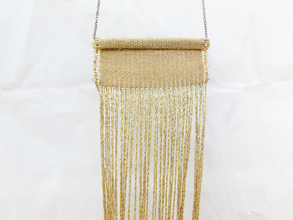 Gold Woven Tapestry Necklace