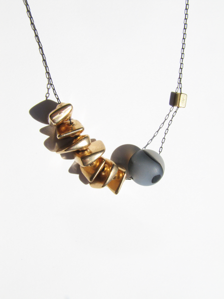 Gold+Agate Necklace