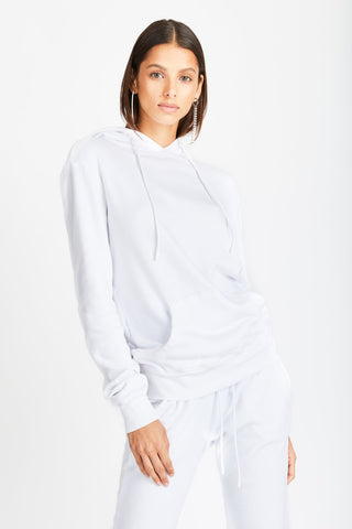 COTTON CITIZEN – THE ASPEN PULLOVER IN WHITE