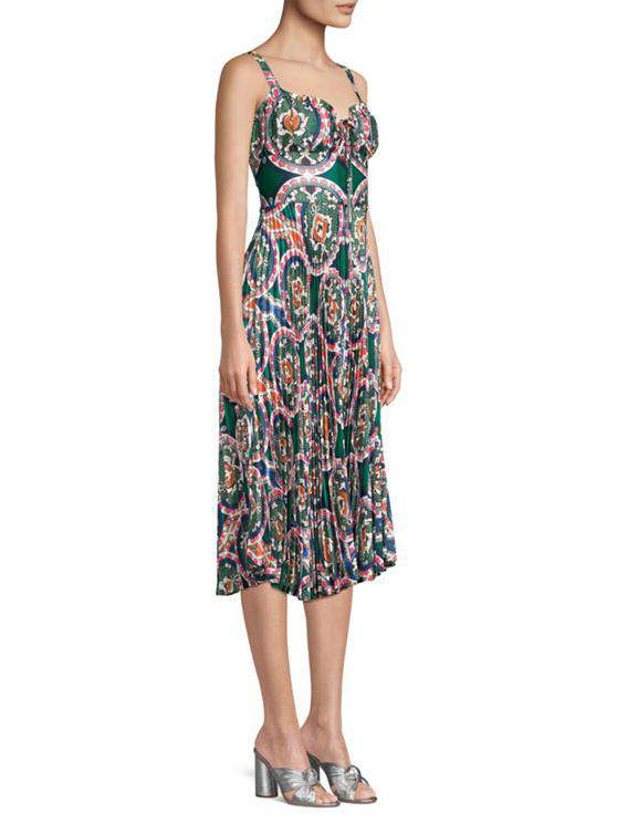 The Amora Dress in Green Multi