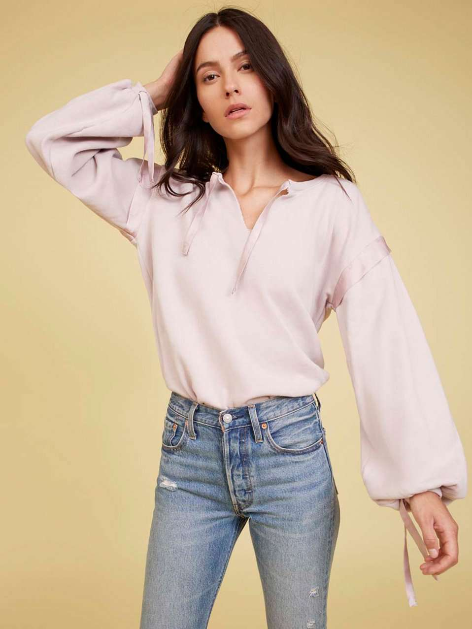 The Aerin Sweatshirt in Lilac