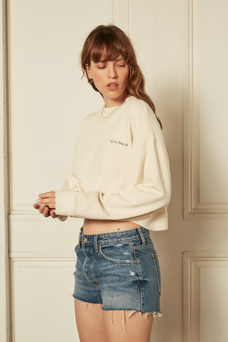 The Joni Sweatshirt in Off-White