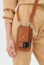 Load image into Gallery viewer, The Emma Pouch in Sienna/Silver