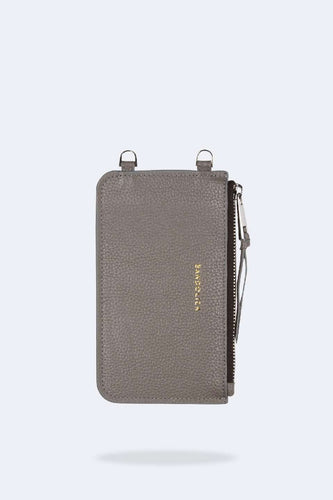 The Emma Pouch in Grey/Silver