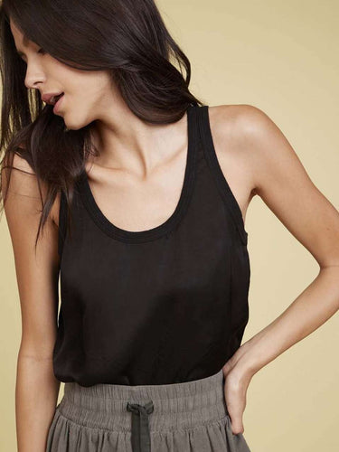 The Jojo Relaxed Top in Black