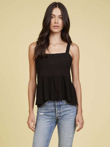 The Giovana Tie Back Top in Black