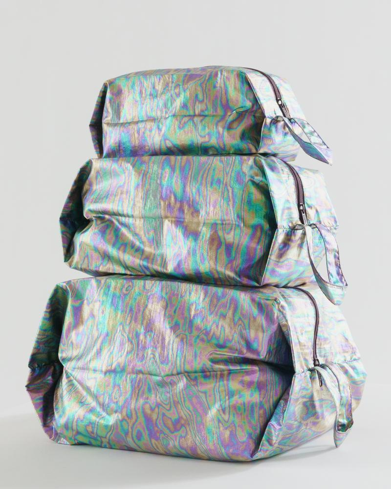 The 3D Zip Set in Rainbow Metallic