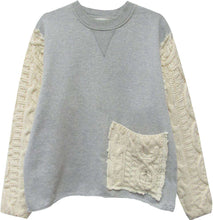 Load image into Gallery viewer, The Assembled Sweatshirt in Grey/White