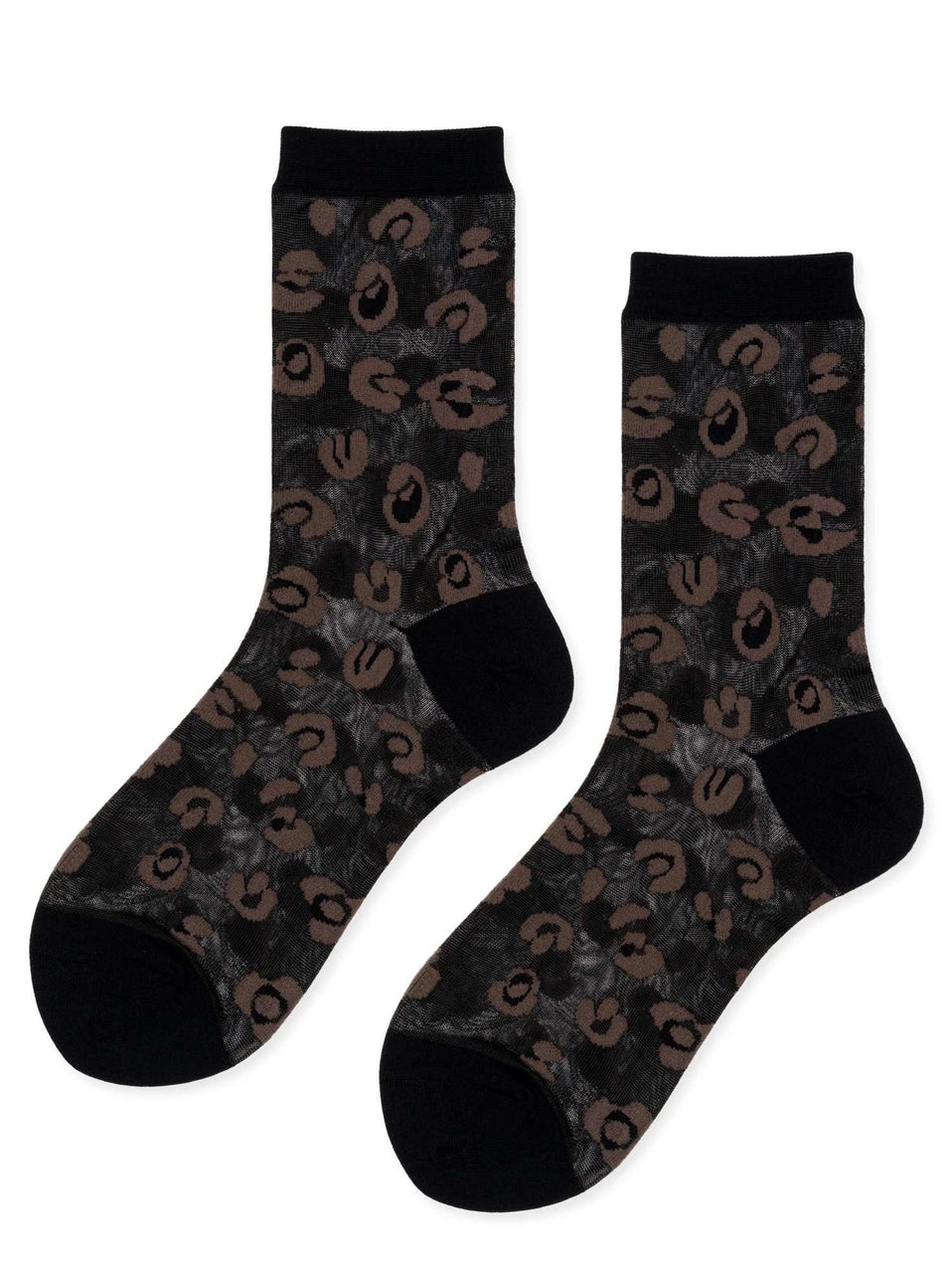The Cheetah Sheer Crew Sock