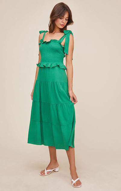 The Promenade Dress in Green